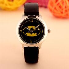 Kids Girls Boys Children 3D Cartoon Batman Wrist watch Superhero Black Gift