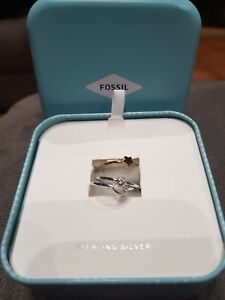 FOSSIL SET OF RING BN. STERLING SILVER