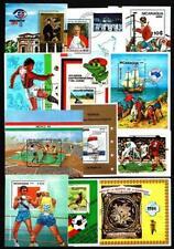 Nicaragua 25 blocs différents thématiques oblitérés côte 63.50 €uros