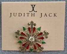 Judith Jack Sterling Silver Swarovski Winter Sparkle Snowflake Pin Brooch NEW
