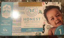 The Honest Company Club Box - Size 1 - Teal Tribal & Space w/TrueAbsorb 80 count