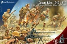 Perry Miniatures - World War II Desert Rats 1940-1943 - 38 28mm Figures WWII