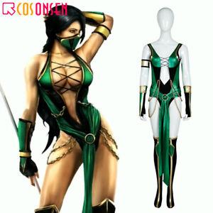 Mortal Kombat X Jade Costume Karate Cosplay Ninja Halloween Women Fancy Dress