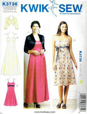 Special Occasion Dress Misses size XS-XL Kwik Sew 3736 SewingPattern