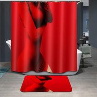 Waterproof Polyester Seven-color Buddha Mandala Shower Curtain Bathroom BathMat