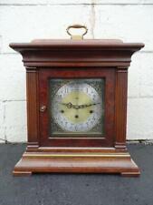 Vintage 1956 Howard Miller 3 Chime Mantel Shelf Clock Presentation Wood RUNNING