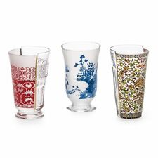 "SELETTI HYBRID ""CLARICE"" SET DI 3 BICCHIERI COCKTAIL-SET OF 3 COCKTAILS GLASSES"
