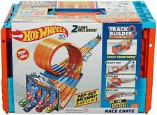 Hot Wheels Builder Race Crate Connectable Track Set with Loops