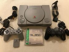 Sony PlayStation 1 Console PS1 w/ Final Fantasy IX & 2 Controllers & Memory Card