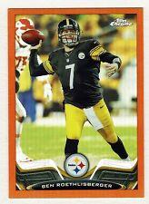 2013 Topps Chrome #52 Ben Roethlisberger Orange Refractor Steelers NMT