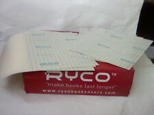 5 sets of 2-RYCO HARD PLASTIC ADHESIVE PROTECTIVE BOOK COVERS app.240mm x 160mm