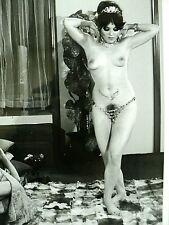 PHOTO ORIGINALE LILO KORENJAK  DANSEUSE NUE BELLY DANCER c. 20 x 25 cm  c. 1969
