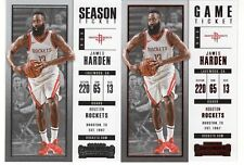 2017-18 Panini Contenders #77 James Harden Base + Red Foil Game Ticket Parallel