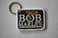 """BOB MARLEY"" EMBROIDERY KEYRING EMBROIDERED PATCH BADGE CHROME KEY CHAIN RINGS"