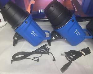 Lot of 2 Flashpoint DG600 300 Watt Second AC/DC Monolight, Blue - Tested
