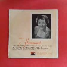 """Joan Hammond - Puccini Operatic Arias, in English (10"""" mono flip-back mini-LP)"""
