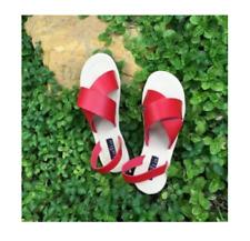 Straps Cross Strap Sandals - Chili Red Size 39