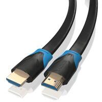 3m HDMI 2.0 Kabel Flach von JAMEGA | High-Speed 4K U-HD 2160p HDR 3D CEC ARC