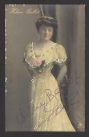 Belle Epoque Beauty Helene Ballot 1920s color postcard