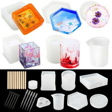 Silicone Resin Molds Epoxy Casting Art Coaster Cup Pen Candle Ashtray Bowl Mat