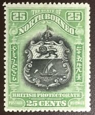 North Borneo 1911 25c Perf 14.5x15 SG178a MH