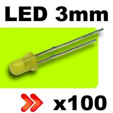 261//100# LED 3mm Jaune diffusant 100pcs résistance