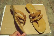 womens ipanema excite brown leather strappy wedge heel sandals shoes size 11