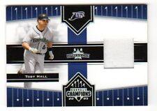 Toby Hall Mlb 2005 Donruss Champions impresiones material (Tampa Bay Devil Rays