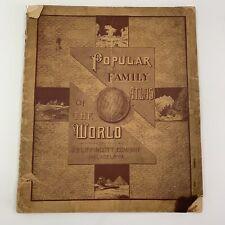 Ultra Rare J. B. Lippincott Popular Family Atlas Maps Of The World 1886