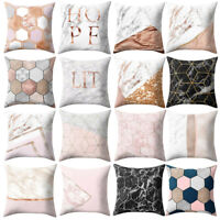 Geometric Marble Texture Throw Pillow Case Cushion Cover Sofa Bed Car Home Decor