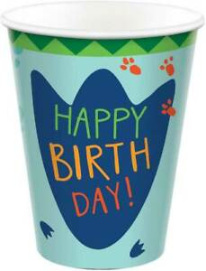 Dinosaur Party Cups - Pack of 8