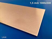 Lastra lamiera Alluminio AW1050 da 1,5 mm 1000x500