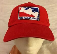 Indy Racing League Embroidered Logo Red Cap Hat Strapback VGUC