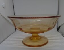 Vintage Pink Depression Glass Footed Compote Panel