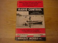Radio Control For Model Aircraft & Boats Berkeley Models sixth Printing 1960