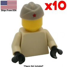 LEGO WWII Russian Soviet Hat Printed 10 Pack Army Soldier Military Accessory Lot