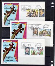 España Maestros de la Zarzuela Serie en sobres Primer día año 1983 (DT-297)
