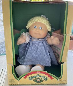 "Vintage Coleco 1984 CABBAGE PATCH KIDS CPK 16"" Blond Girl Jinny Joette w/Box"