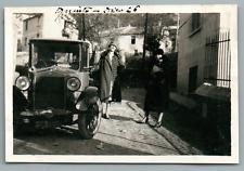 Italia, Genova, Quinto  Vintage silver print. Italy. Vintage car. Voiture ancien