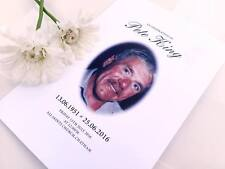 50 Personalised Order of Service Funeral Programs