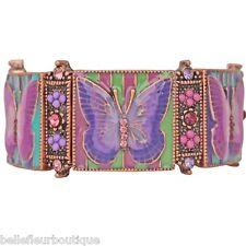 Kirks Folly Butterfly Mosaic Stretch Bracelet Lavender & Lilac *Beautiful*