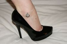 Chain Jewellery Cuckold Bbc Qos Style4 Sexy Premium Queen Of Spades Anklet Ankle
