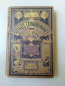 VERNE. VINGT MILLE  LIEUES  SOUS LES  MER CARTONNAGE VIOLET AUX 2 ELEPHANTS 1885