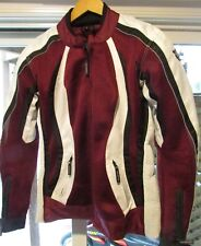 AGV Sport Ladies Motorcycle Jacket Size Large Maroon and White