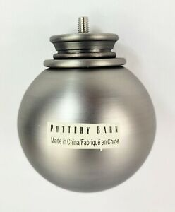 "Pottery Barn Ball Finials, Pewter Finish, 1.25"", Set of 2, NIB"