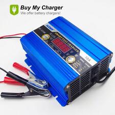 Intelligent 12V 2A-10A 120ah Lead Acid Battery Charger  LED Display&Engine start