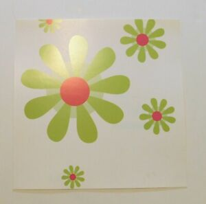 Mod Floral Scrapbook Paper 1 Page 12x12 White Flowers Single Sided Heavy Weight