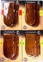 Plainsman Premium Cabretta Brown Leather Gloves Work, 2 Pairs, XL, L, M or S