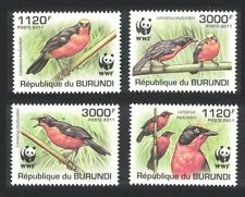 Burundi Birds WWF Papyrus Gonolek 4v 2nd print light MNH