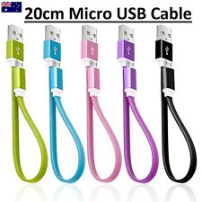Short Flat Micro USB Cable Data Charger for Android Mobile Phones Kinder 22cm HQ